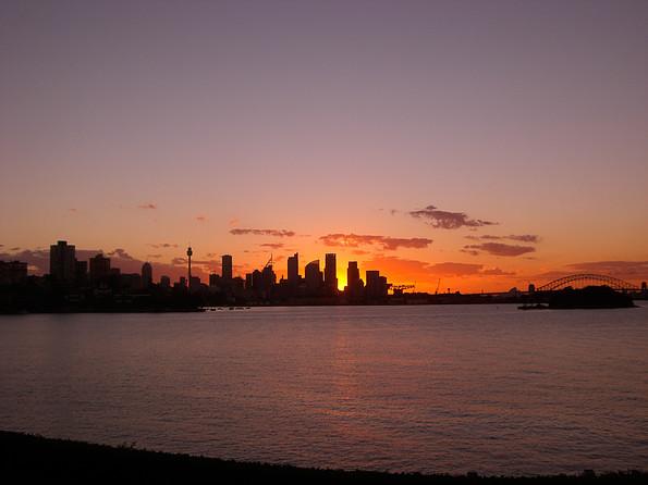 Abendstimmung in Sydney