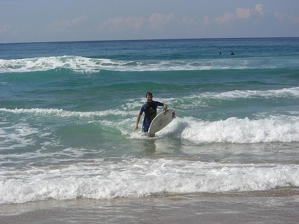 Beim Surfen
